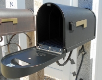 Postmaster approved black mailbox