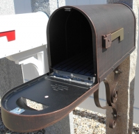 Postmaster approved brown mailbox