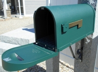 Postmaster approved green mailbox