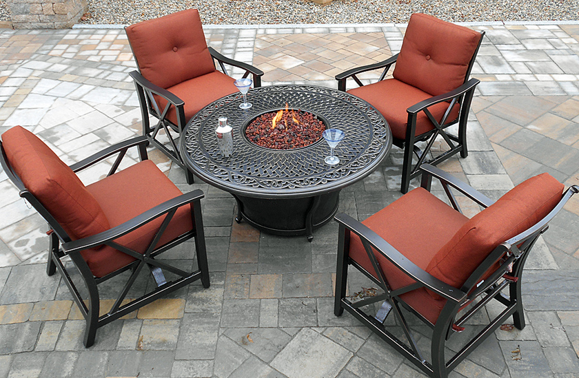 Emilyrose Bristol Fire Table with Summerdale Chairs