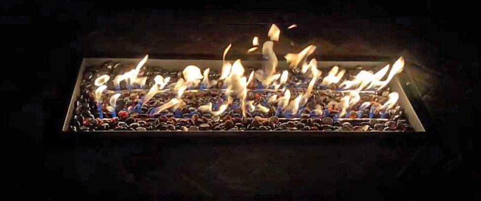 Close up of the table flame