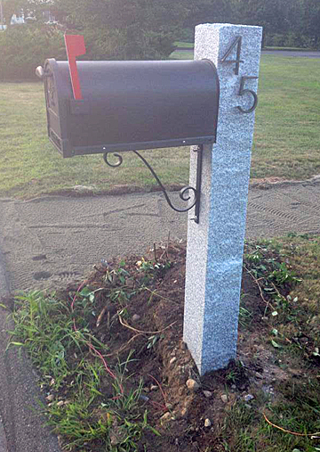 Mailbox Post | Granite Mail Box Post | Connecticut